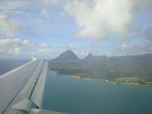 Flight to St Lucia