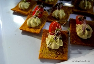 Mini Raw Cashew French Herbed Fermented Cheese with Sweet Potato Crackers