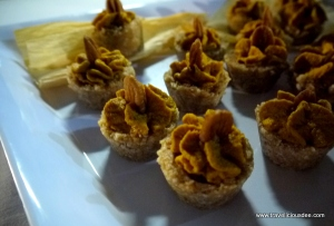 Mini Raw Pumpkin Tarts on Pecan Salted Date Crust